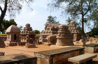 View of Rathas - Mammallapuram Aug 05